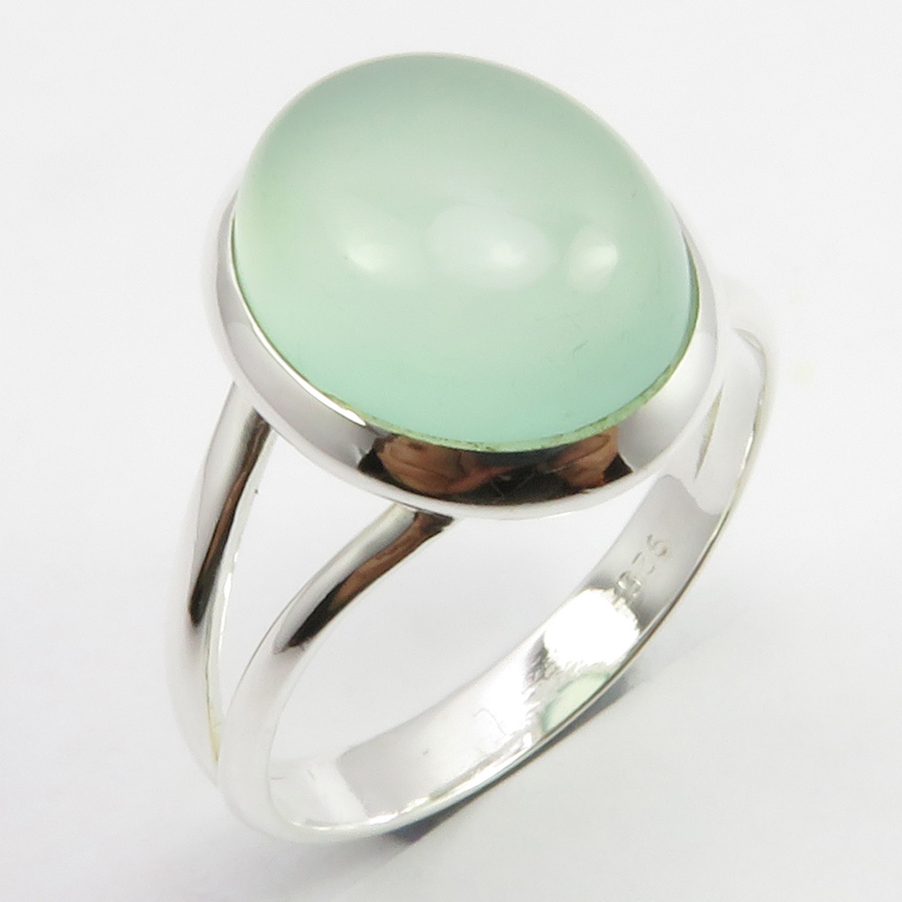Women 925 Sterling Silver Jewelry Yellow Chalcedony GemStone Ring All US SIZE