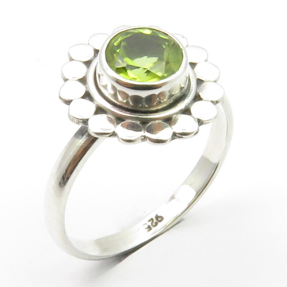 Handmade  ring peridot ring 925 Sterling silver ring silver  ring