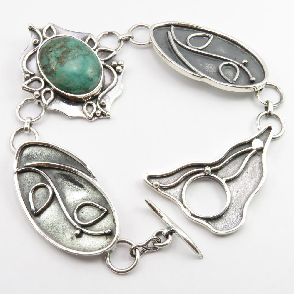 "925 Sterling Silver BLUE FIRE RAINBOW MOONSTONE Designer Bracelet 8.3/"" BIJOUX"
