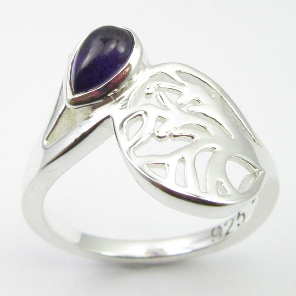 CELTIC-ART-Ring-925-Sterling-Silver-Blue-Fire-LABRADORITE-amp-Other-Gemstones