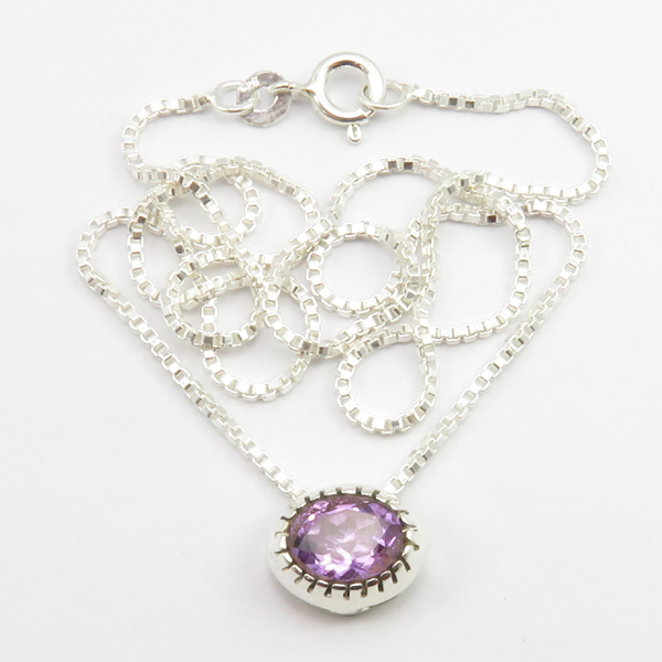 Faceted-Amethyst-Peridot-Box-Chain-2-in-1-Necklace-16-034-Women-925-Silver-Jewelry thumbnail 12