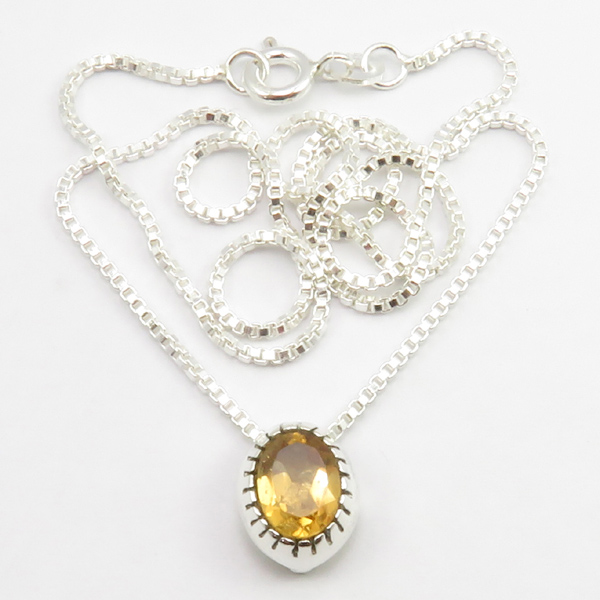 Faceted-Amethyst-Peridot-Box-Chain-2-in-1-Necklace-16-034-Women-925-Silver-Jewelry thumbnail 31