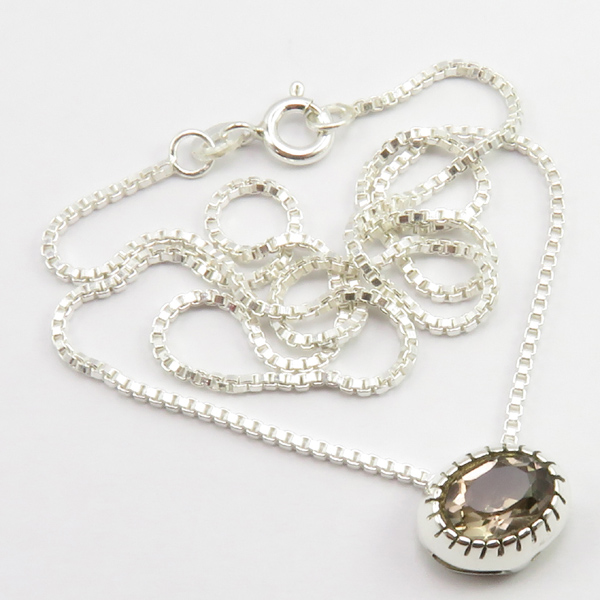 Faceted-Amethyst-Peridot-Box-Chain-2-in-1-Necklace-16-034-Women-925-Silver-Jewelry thumbnail 104