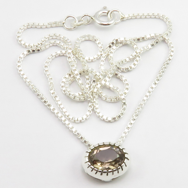 Faceted-Amethyst-Peridot-Box-Chain-2-in-1-Necklace-16-034-Women-925-Silver-Jewelry thumbnail 102