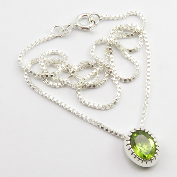 Faceted-Amethyst-Peridot-Box-Chain-2-in-1-Necklace-16-034-Women-925-Silver-Jewelry thumbnail 83