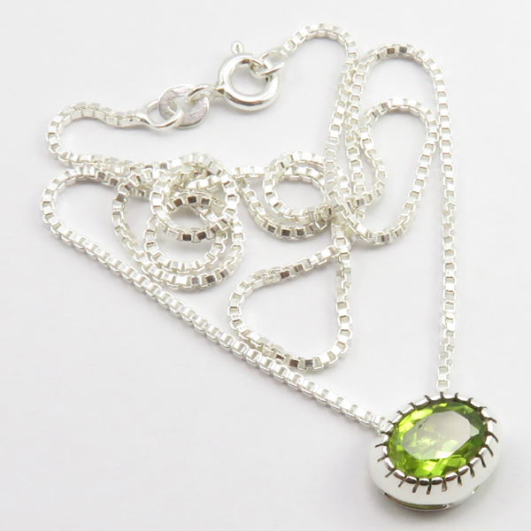 Faceted-Amethyst-Peridot-Box-Chain-2-in-1-Necklace-16-034-Women-925-Silver-Jewelry thumbnail 84