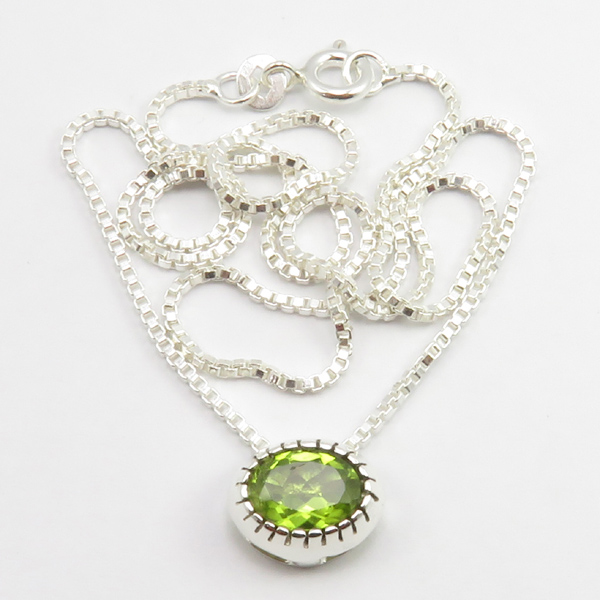 Faceted-Amethyst-Peridot-Box-Chain-2-in-1-Necklace-16-034-Women-925-Silver-Jewelry thumbnail 82