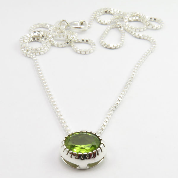 Faceted-Amethyst-Peridot-Box-Chain-2-in-1-Necklace-16-034-Women-925-Silver-Jewelry thumbnail 86