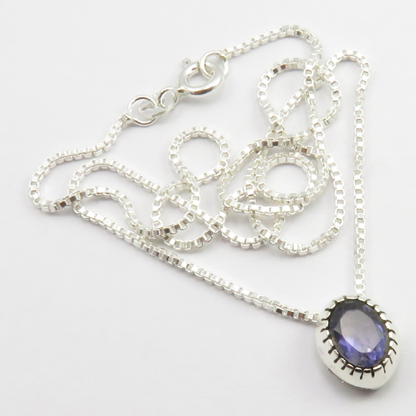 Faceted-Amethyst-Peridot-Box-Chain-2-in-1-Necklace-16-034-Women-925-Silver-Jewelry thumbnail 53