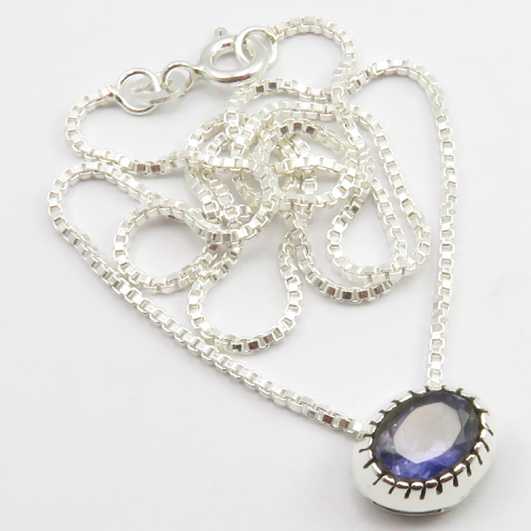 Faceted-Amethyst-Peridot-Box-Chain-2-in-1-Necklace-16-034-Women-925-Silver-Jewelry thumbnail 54