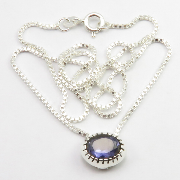 Faceted-Amethyst-Peridot-Box-Chain-2-in-1-Necklace-16-034-Women-925-Silver-Jewelry thumbnail 52
