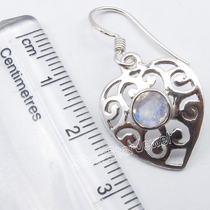 925 Sterling Silver Rainbow Moonstone Drop Dangle Earrings 1.3 Fashion Jewelry Collection Factory Direct Shipping jewellery Gift For Mother