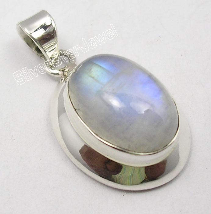 "925 Silver Celtic Earrings 1 5//8/"" MOONSTONE /& Choose Other Gemstones Variation"