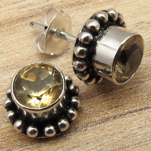 925-Silver-Plated-STUD-Earrings-Vintage-Style-Pretty-Handmade-Jewelry