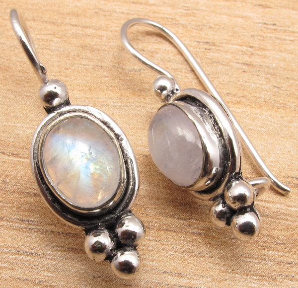 925-Silver-Plated-Blue-Fire-LABRADORITE-amp-Other-Gemstone-CHOICES-Earrings-NEW thumbnail 2