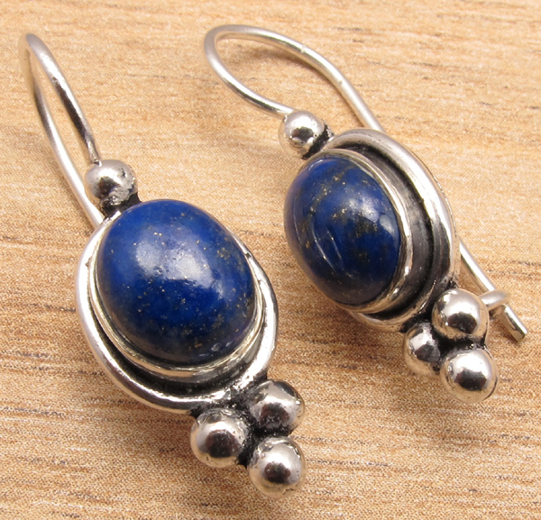 925-Silver-Plated-Blue-Fire-LABRADORITE-amp-Other-Gemstone-CHOICES-Earrings-NEW thumbnail 5