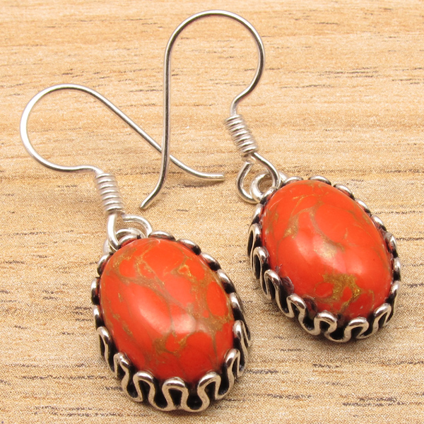 925-Silver-Plated-TRIBAL-Earrings-Handmade-Jewelry-Comfirt-Fit-Gift