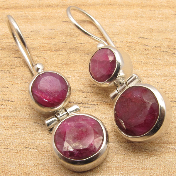 925-Silver-Plated-Many-Gemstone-Choice-Highly-Polished-Deco-Earrings