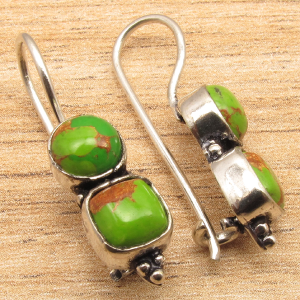 925-Silver-Plated-Antique-Style-HOOK-Earrings-Online-Jewelry-Store