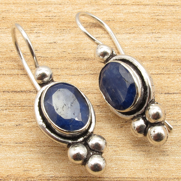 925-Silver-Plated-Blue-Fire-LABRADORITE-amp-Other-Gemstone-CHOICES-Earrings-NEW thumbnail 8