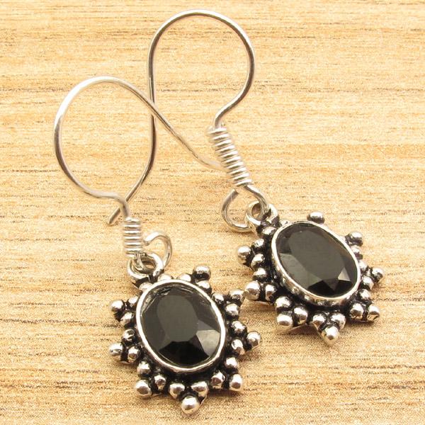 925-Silver-Plated-HANDWORK-Earrings-Antique-Look-Handmade-Jewelry