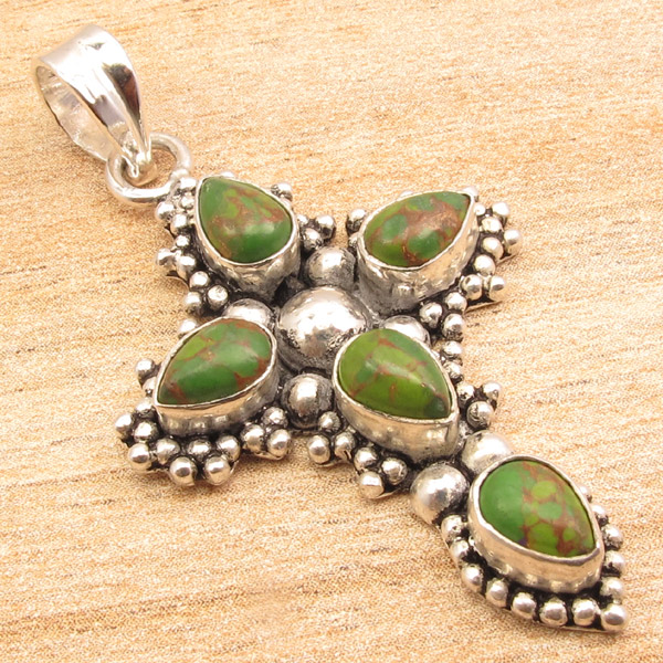 925-Silver-Plated-CROSS-Pendant-LAPIS-LAZULI-WHITE-PEARL-amp-Other-Gems-Choice thumbnail 6