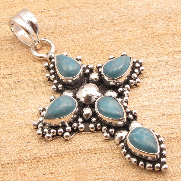 925-Silver-Plated-CROSS-Pendant-LAPIS-LAZULI-WHITE-PEARL-amp-Other-Gems-Choice thumbnail 22