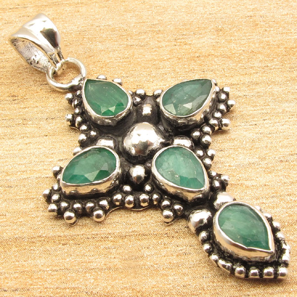 925-Silver-Plated-CROSS-Pendant-LAPIS-LAZULI-WHITE-PEARL-amp-Other-Gems-Choice thumbnail 24