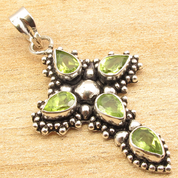 925-Silver-Plated-CROSS-Pendant-LAPIS-LAZULI-WHITE-PEARL-amp-Other-Gems-Choice thumbnail 19